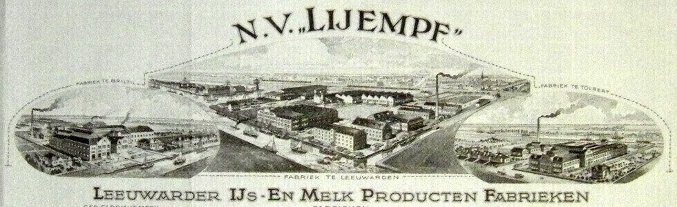 Image of the founding of the Lijempf era with the factory in Leeuwarden as the start